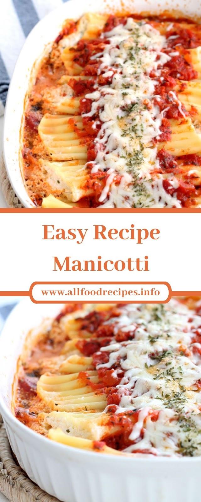 Easy Recipe Manicotti