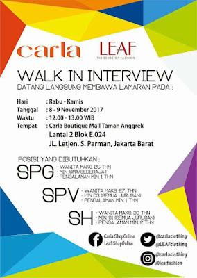 Lowongan Kerja Section Head (Kepala Toko) PT. Tokarindo Citrainti, Mall Taman Anggrek November 2017