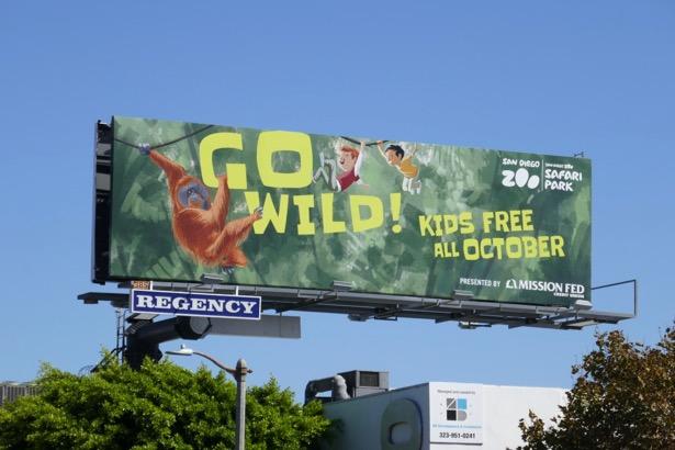 San Diego Zoo Go Wild billboard