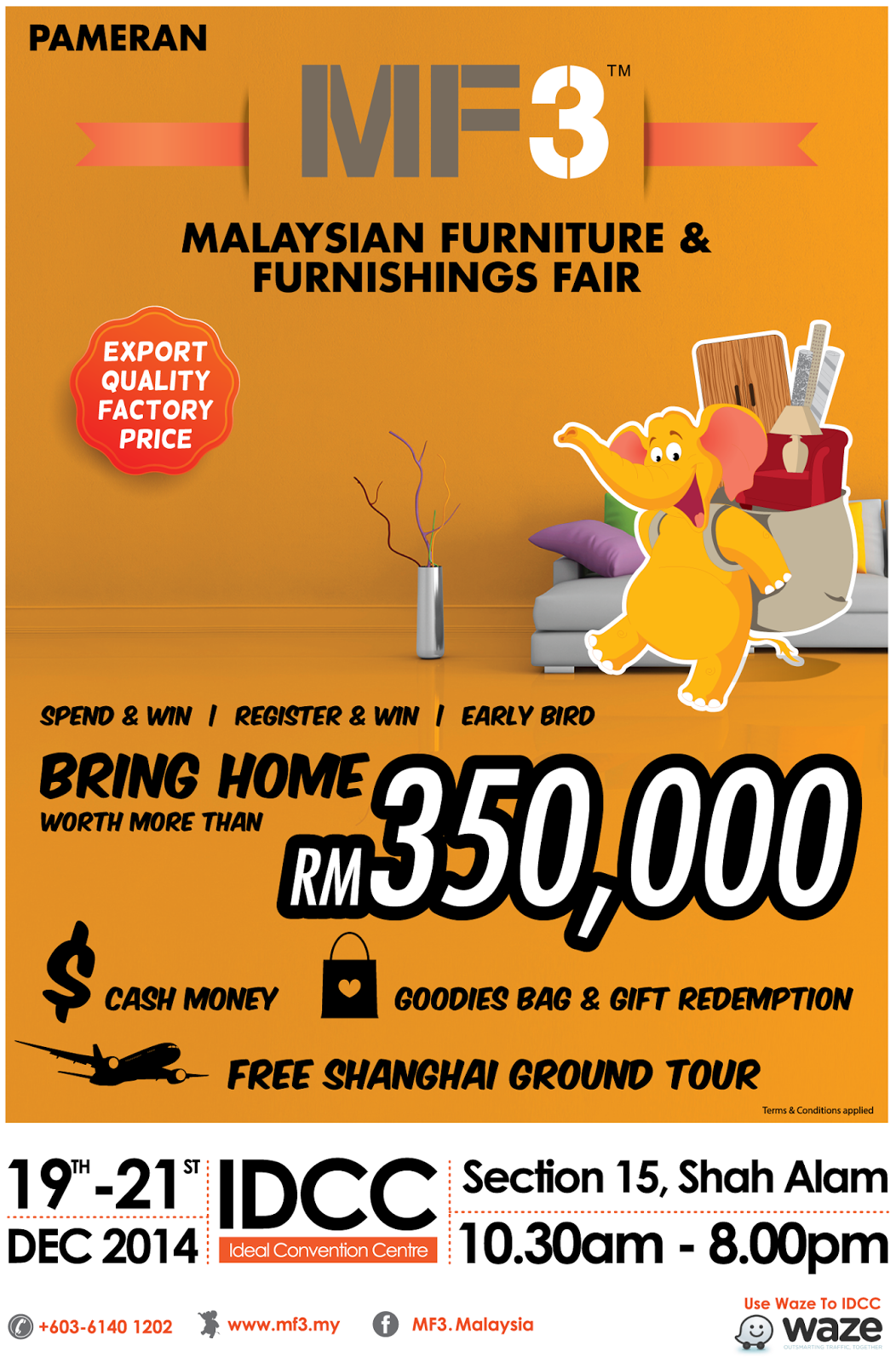 MF3 Malaysia Furniture & Furnishing Fair 2014 @Ideal Convention Centre Shah Alam