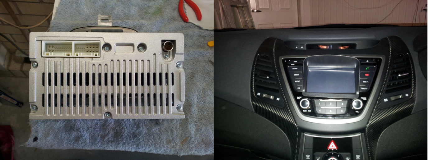 Joying JY-UL124 head unit's completed process to install on