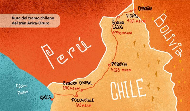 Con superlocomotoras reinauguran colosal viaje en tren de Arica a Bolivia