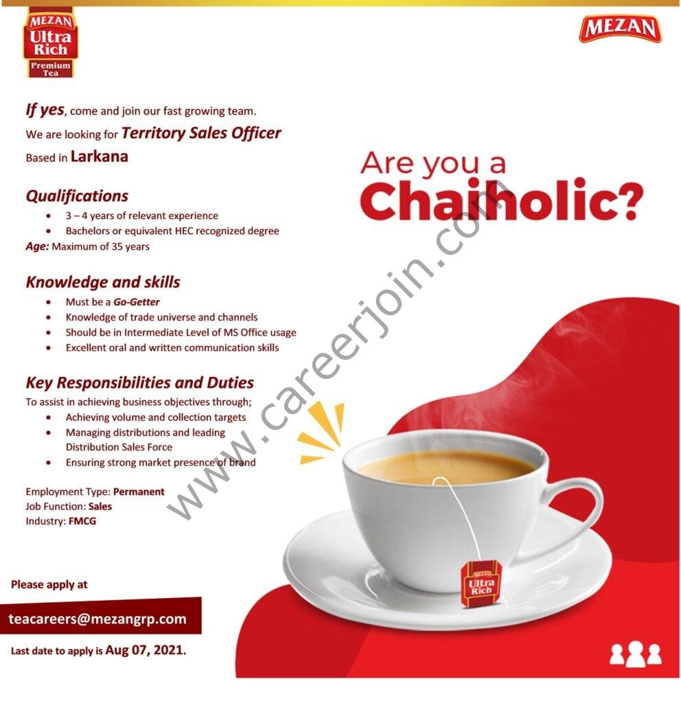 Mezan Tea Pvt Ltd Jobs Territory Sales Officer