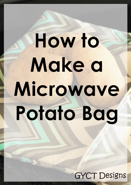 Need to bake a potato super fast?  You'll want to make a microwave baked potato bag with this step by step tutorial and free downloadable pattern.