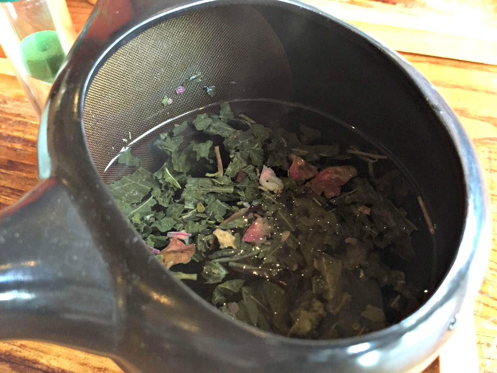 Sencha cherry rose at Tea Sutra