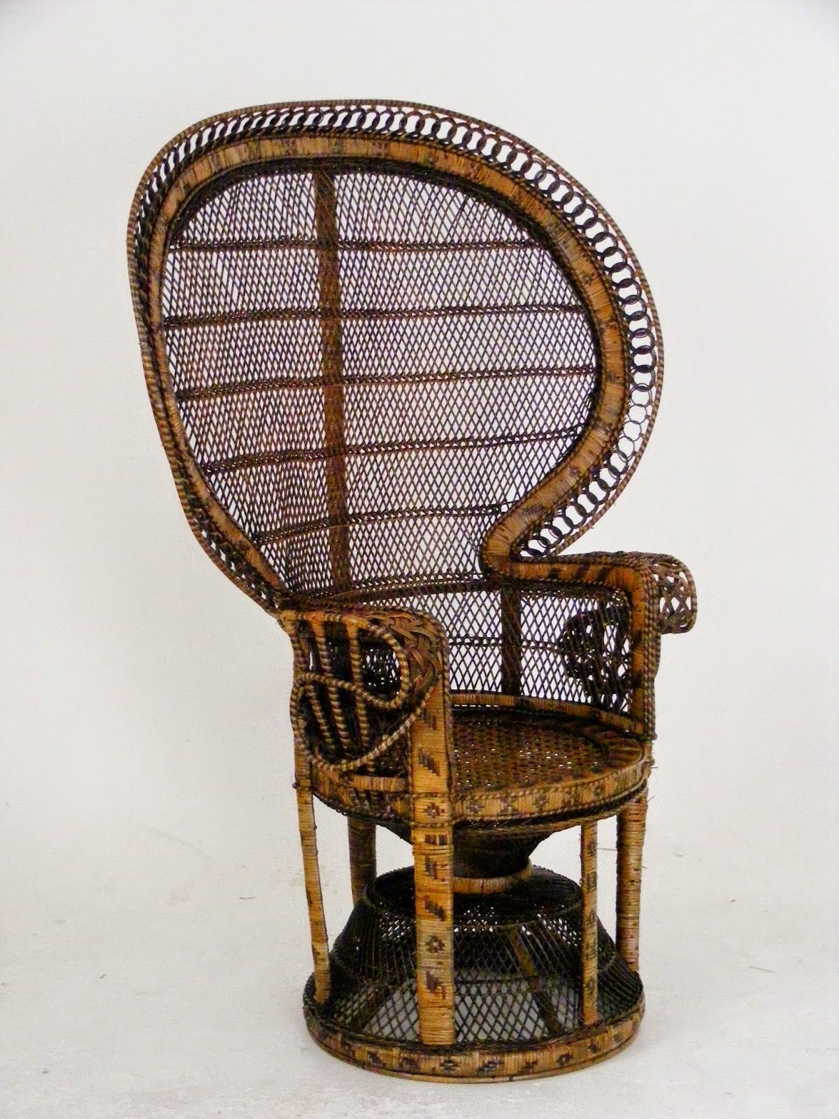 peacock hanging chair hair stylist chairs vintage wicker