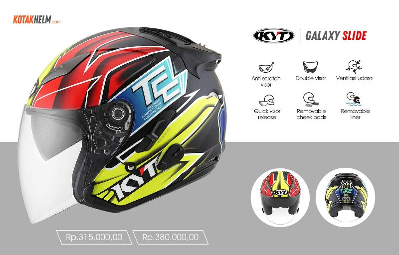 helm kyt galaxy slide motif race edition