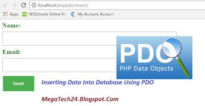 PHP insert Data into MySQL using PDO