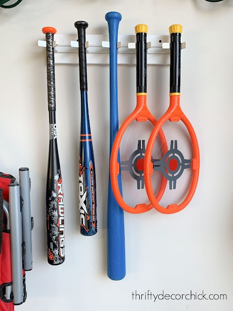 baseball bat storage garage