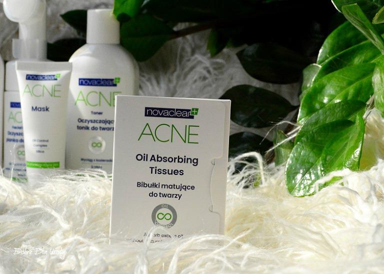 NovaClear ACNE Oil Absorbing Facial Tissues Bibułki matujące recenzja