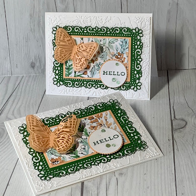 handmade greeting cards using Stampin' Up! Hand- Penned Designer Series Paper