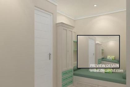 Jasa design kamar anak  rendering berkualitas murah berpengalaman