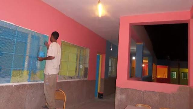 """"""" جمعية أطفال العالم """" تساهم في تأهيل المؤسسات التعليمية بالمديرية الاقليمية بجرادة"""