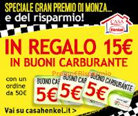 Logo Casa Henkel ti regala 15€ in buoni carburante: solo per questo weekend!