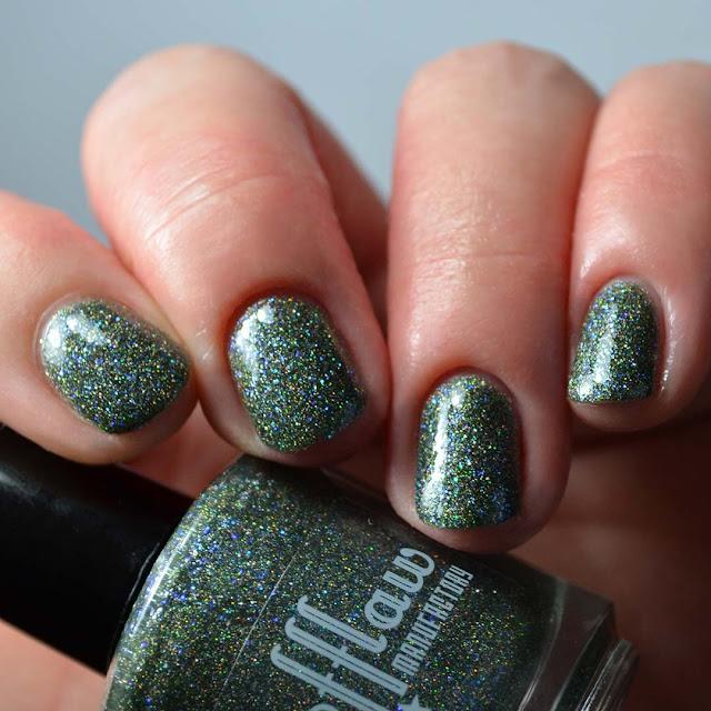 green holo nail polish