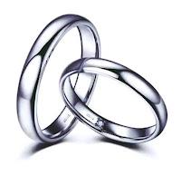 cincin nikah berlian desain unik didalam