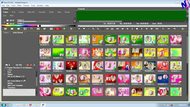 Edius 9,8,7 SHL Boris HD Effects V.2.0 Effects Free Download