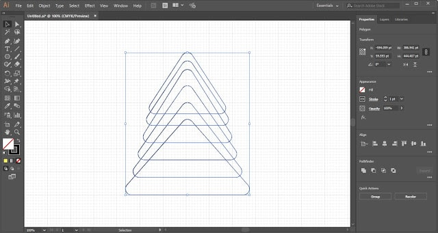 Christmas Tree in Adobe Illustrator