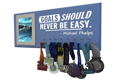 swim swimming hanger holder display rack ribbon medal