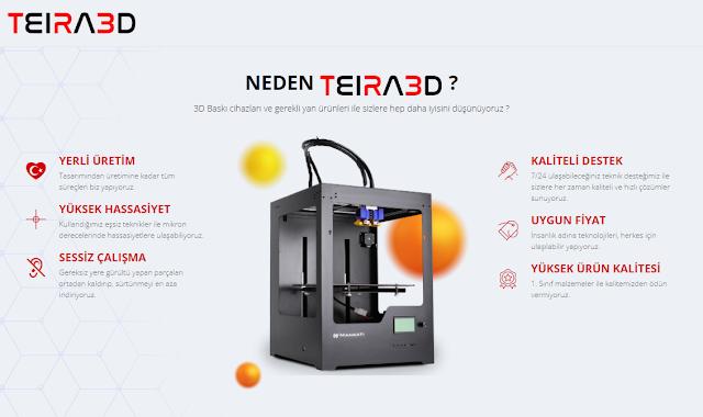 Protas Arge Neden Yerli 3D Yazıcı TEIRA3D