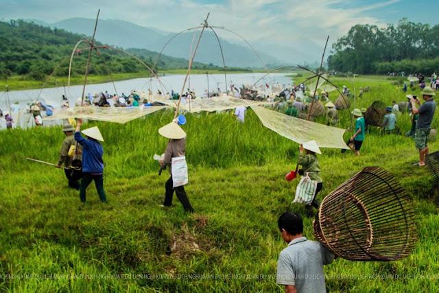 Sáng mai 14/6: Lễ hội đánh cá đầm vực, xã Xuân Viên, Nghi Xuân, Hà Tĩnh