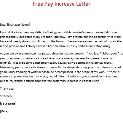 Doc575709 Salary Increase Letter Sample Salary Increase – Salary Increment Letter