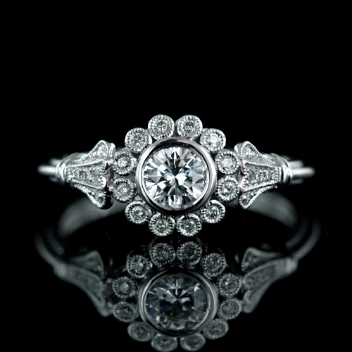 Sunflower Diamond Ring