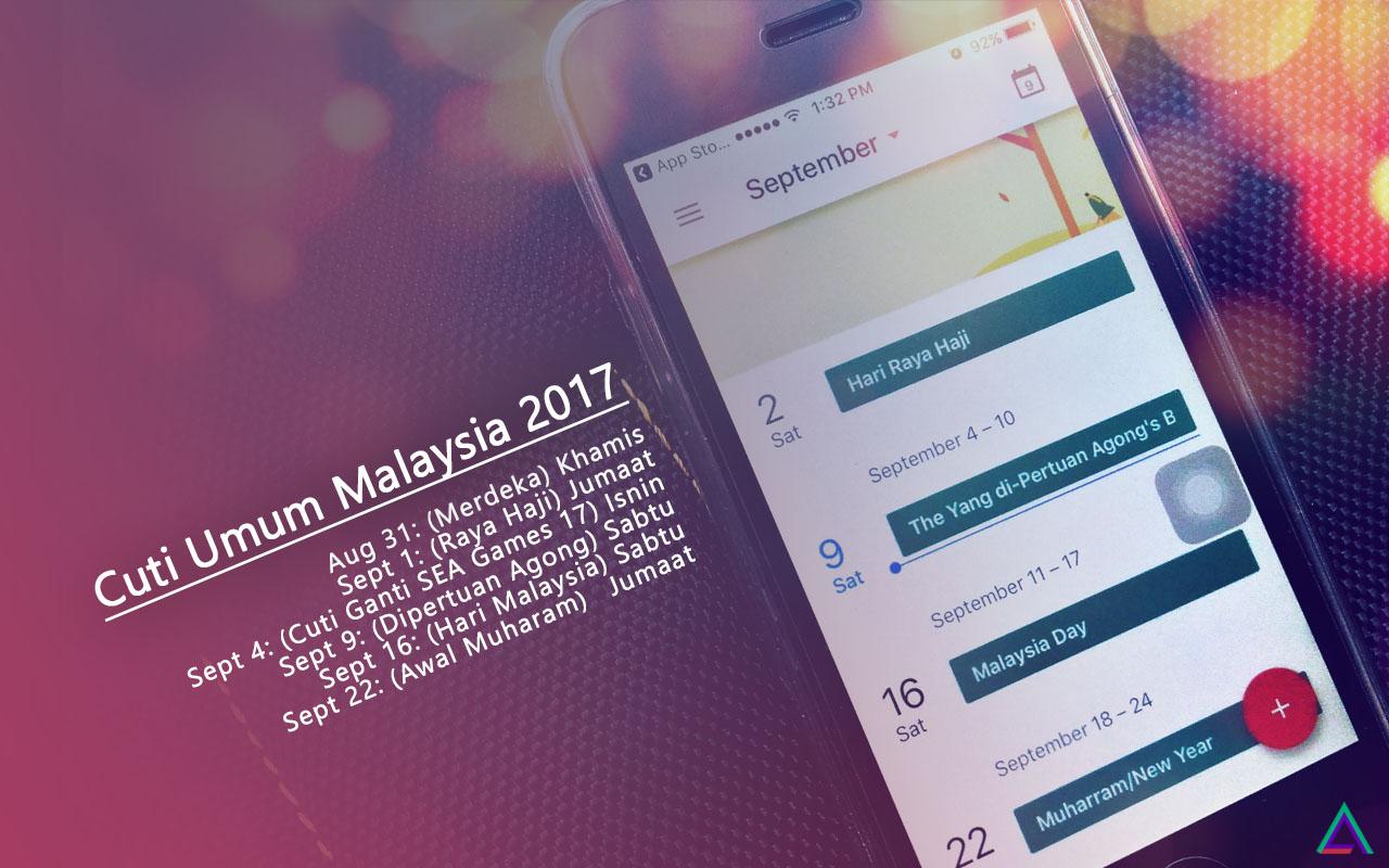 Cuti Umum Malaysia September 2017