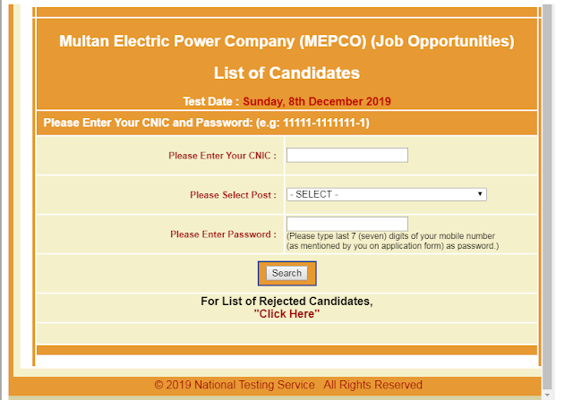 How Download Mepco NTS Slip ?,MEPCO SDO Junior Enjineer Assistant Line Man ALM Jobs NTS Test Roll No Slip