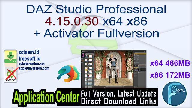 DAZ Studio Professional 4.15.0.30 x64 x86 + Activator Fullversion