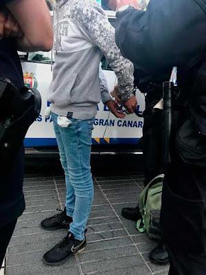 Joven 18 años detenido por violencia de género, Las Palmas de Gran Canaria