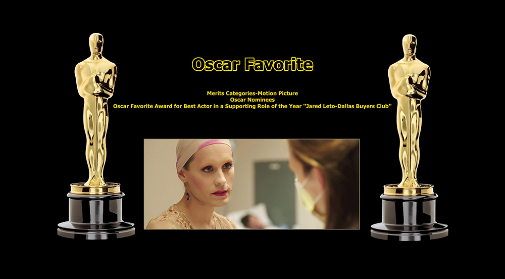 oscar favorite best actor in a supporting role award jared leto dallas buyers club