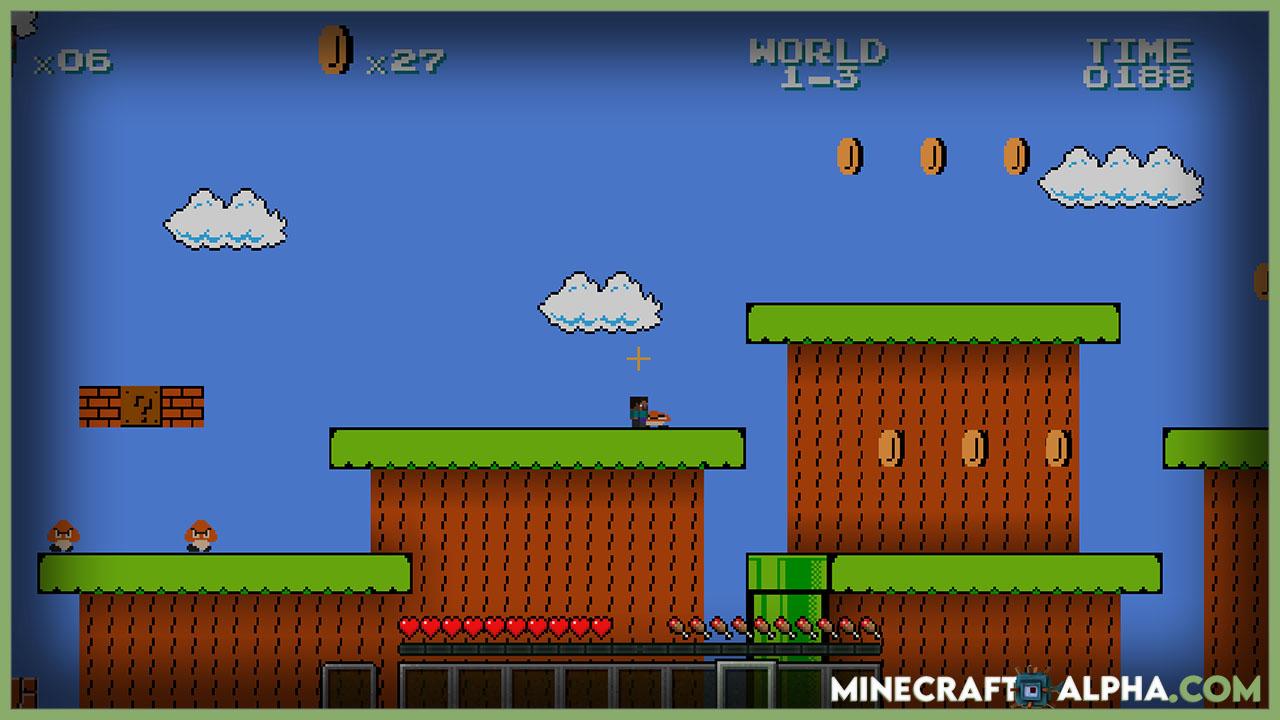 Minecraft-Super-Steve-Bros-Game-Map