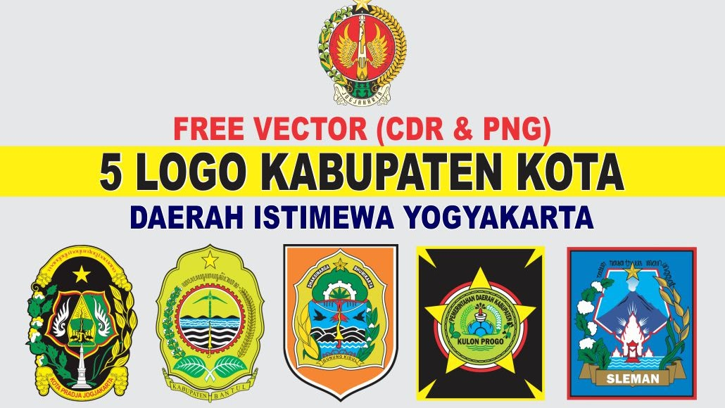 Free Vector Logo 5 Kabupaten Kota Yogyakarta Cdr Png Tutoriduan Com