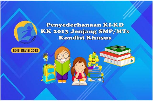 Penyederhanaan KI-KD SMP/MTs KK 2013 Kondisi Khusus