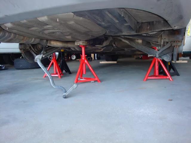 Comment mettre une voiture sur des chandelles