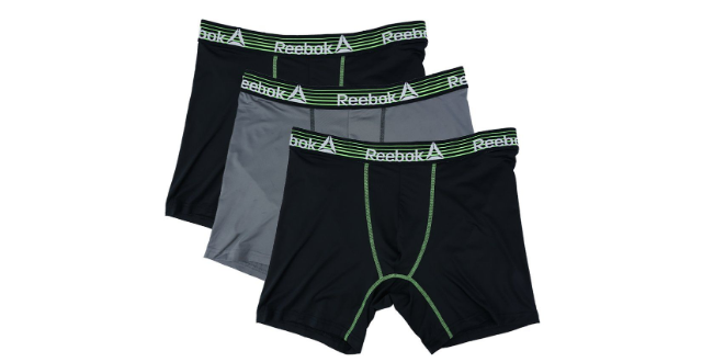 Reebok Men's Performance Anti-Microbial Boxer Briefs 3-Pack for 2 for $20