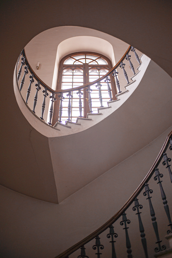 Igor Novik photo church Lutheran staircase spiral window interior
