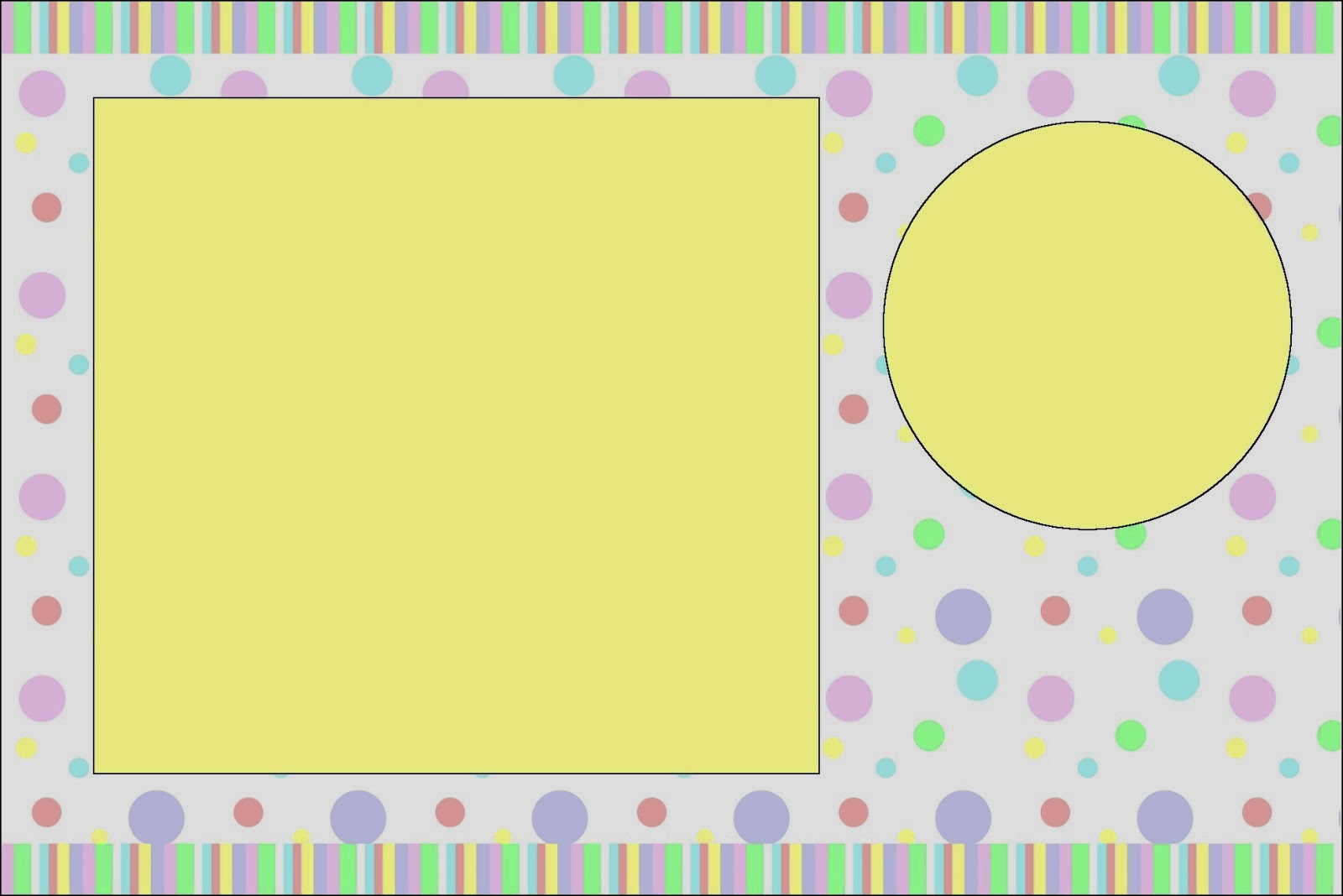pastel colored spots  free printable invitations