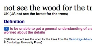 Separated by a Common Language: forest, wood and woods
