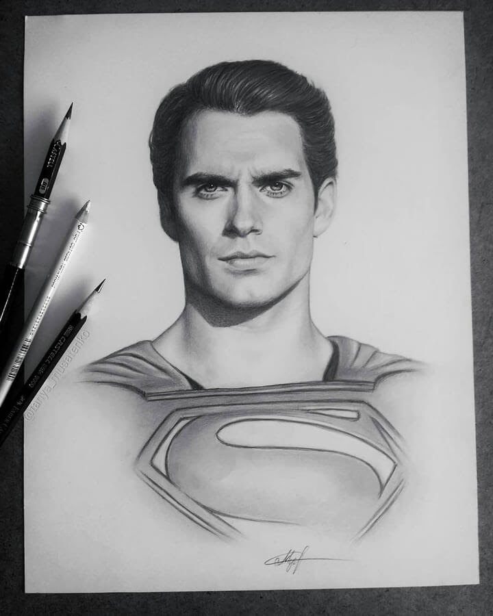 02-Henry-Cavill-as-Superman-Таня-Мусатенко-www-designstack-co