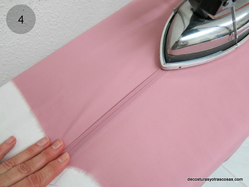 planchar el segundo pliegue cosido