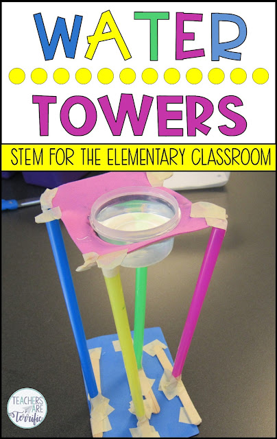 Ready for another tower challenge? We added a couple of twists to this one! An object must be held aloft and students use a budget! And there might be splashing!