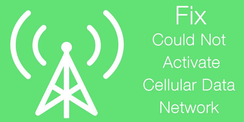 fix cellular data not working
