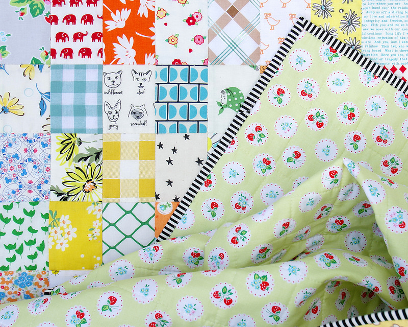 Rectangle Checkerboard Quilt - backing fabric | © Red Pepper Quilts 2016
