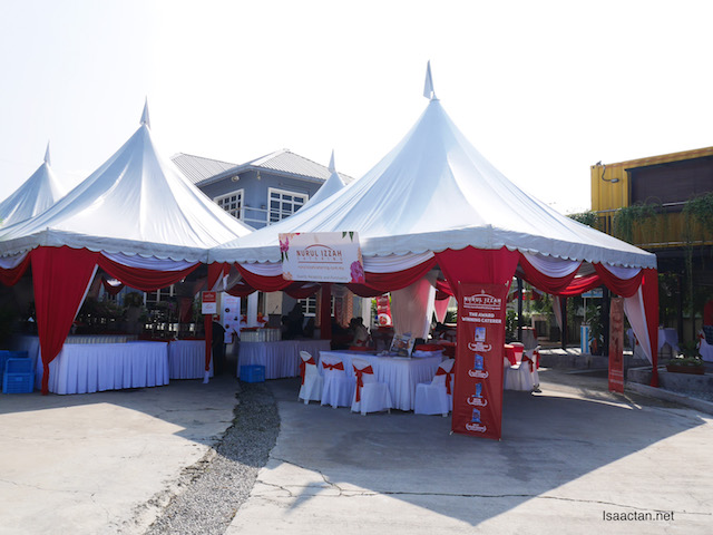 Tents set up by Nurul Izzah Catering
