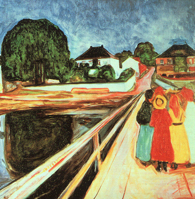 Эдвард Мунк - Девушки на мосту. 1900