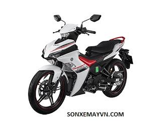 Bán Sơn xe máy YAMAHA EXCITER màu trắng