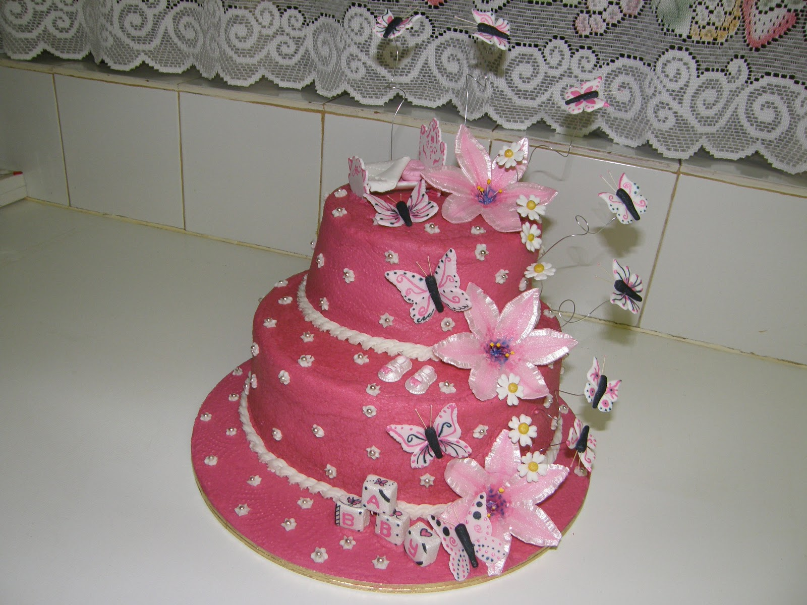 It S My Party Butterfly Baby Shower Cake