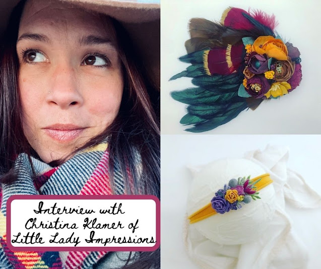 Meet Christina Klamer of Little Lady Impressions Crafting Incredible Floral and Feathered Accessories in the Chicago Suburbs